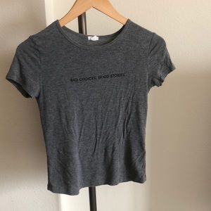Gray fitted Garage t-shirt